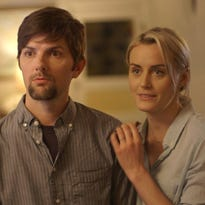 """Adam Scott and Taylor Schilling star in """"The Overnight."""""""
