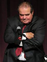 U.S. Supreme Court Justice Antonin Scalia speaks to