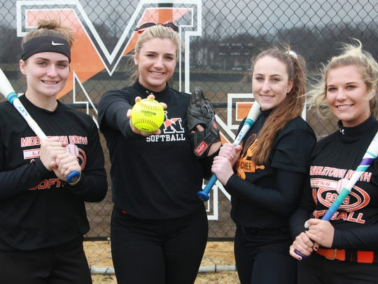 Middletown North's seniors standouts Kayla Gallo, Riley