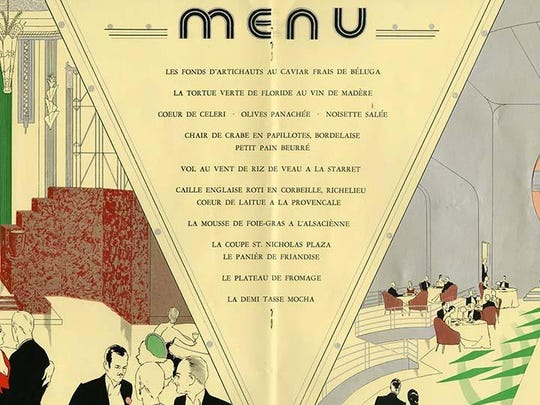 The menu from the opening banquet at The Netherland Plaza, 1931