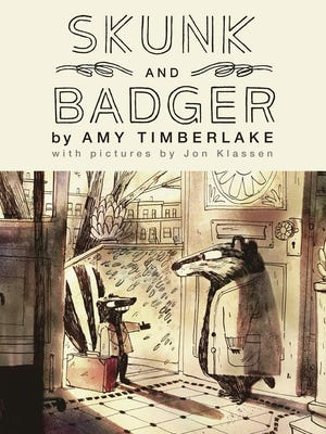 """""""Skunk and Badger"""" by Amy Timberlake, illustrated by Jon Klassen."""