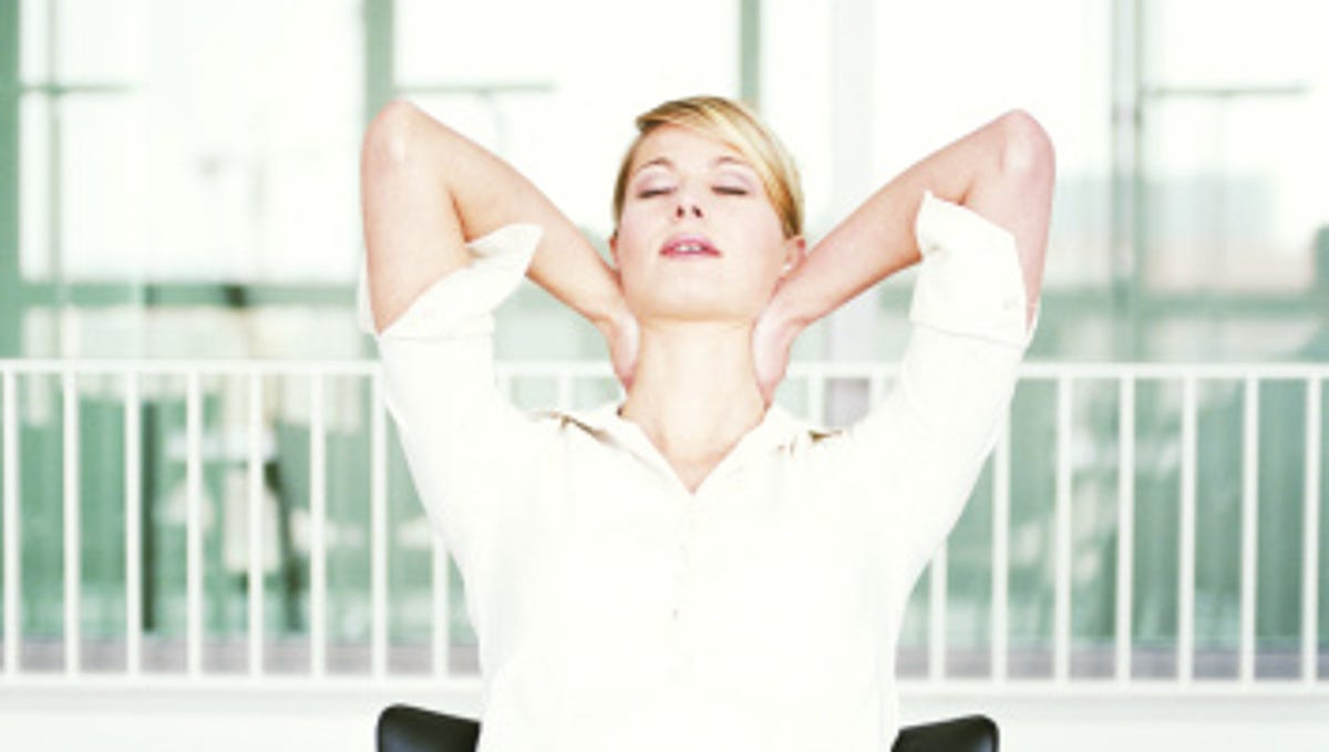 Yoga Moves In The Office Gentle Stretches At Your Desk
