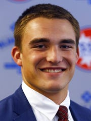 Brentwood Academy's Jackson Sirman is seen during the announcement of Mr. Football at Nissan Stadium, Monday, Nov. 27, 2017, in Nashville, Tenn. (Photo by Wade Payne, Special to the Tennessean)