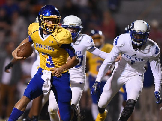 Wren quarterback Jay Urich (3) carries against Eastside on Nov. 3.
