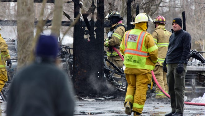 Authorities said Edward Miller, who was found dead outside his burning Rile Township house on Feb. 10, died from burns.