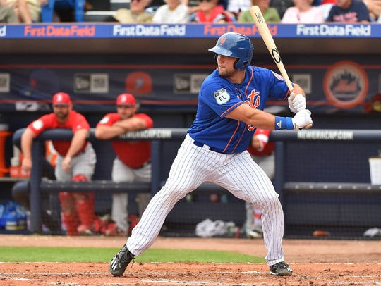 Tim Tebow during an at-bat Wednesday.