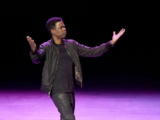 Comedian/actor Chris Rock performs his stand-up comedy