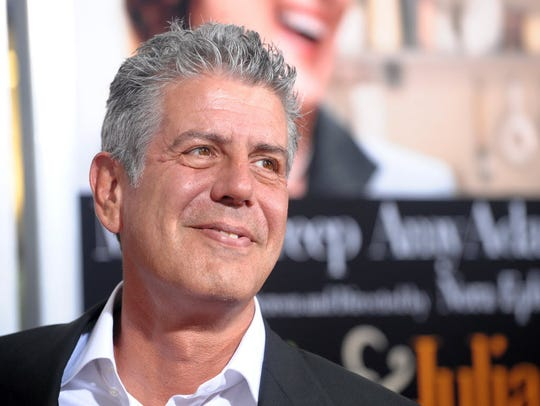 ", Anthony Bourdain attends the premiere of ""Julie &"