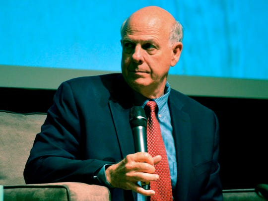 In this April 14, 2018 file photo, U.S. Rep. Steve Pearce, R-NM, during a forum at the National Hispanic Cultural Center in Albuquerque. Republican gubernatorial candidate Steve Pearce said Thursday, June 14, 2018, he would immediately suspend New Mexico's embattled teacher evaluation system if elected. He said educators are being judged unfairly as the state struggles to improve student academic performance.