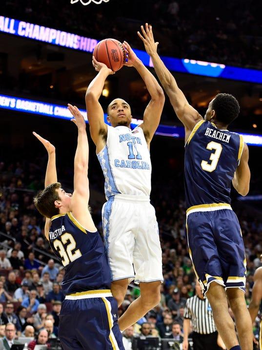 NCAA Basketball: NCAA Tournament-East Regional-North Carolina vs Notre Dame