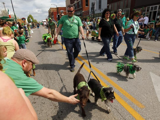 The annual St. Patrick's Day Parade trots along Commercial
