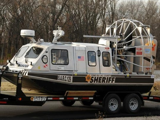 Due to poor ice conditions and open water, the sheriff's