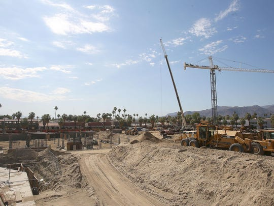 The site of the future Kimpton Hotel in downtown Palm Springs, which is part of a massive redevelopment project led by John Wessman. Photo taken Friday, June 12, 2015.