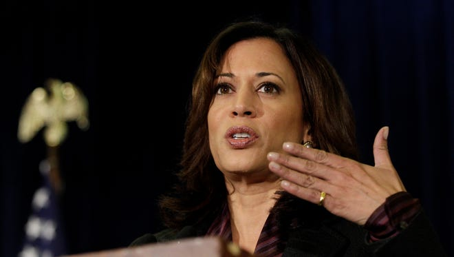 California Sen. Kamala Harris took to Twitter to express her opposition to a draft memo proposing using the National Guard to pick up undocumented immigrants.