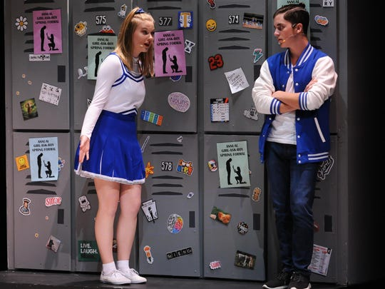 """In St. Ursula Academy's 'Just a High School Play,'"