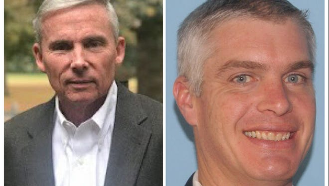 Lee Busby (left), a retired military veteran and businessman, and Mac Watson, a business owner, are mounting separate write-in campaigns for US Senate.