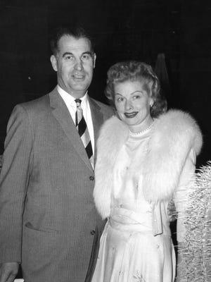 Frank Bogert and Lucille Ball c. 1957.
