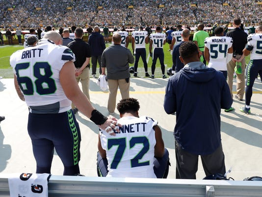 national anthem protest, Michael Bennett