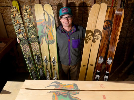 Ben Sidor hand makes skis for the Coop ski brand in