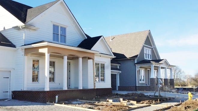 Blossom Park, at the corner of Del Rio Pike and Carlisle Lane in Franklin, already has its first four houses in construction, including a model expected to open in late March.