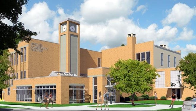 A rendering of the proposed renovated Spiegel Community Center in Pittsford.