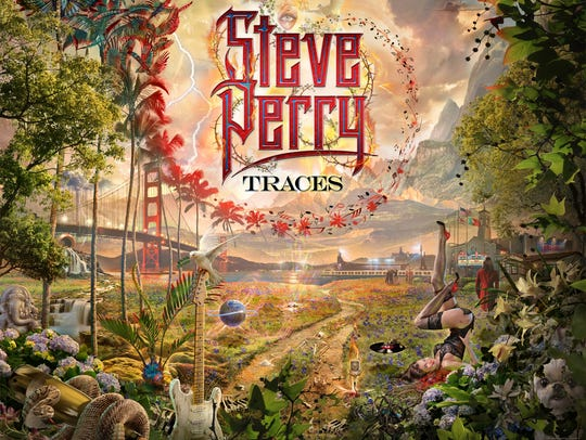 "The cover art of Steve Perry's new album ""Traces,"""