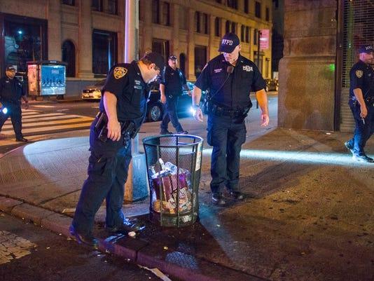 AP MANHATTAN EXPLOSION A USA NY