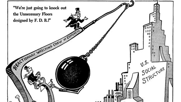 An editorial cartoon by Dr. Seuss, published in the