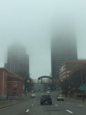 Entry to the city of Rochester late Sunday morning.