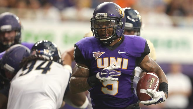 UNI running back Darrian Miller scored a total of five touchdowns last season, three rushing and two receiving.