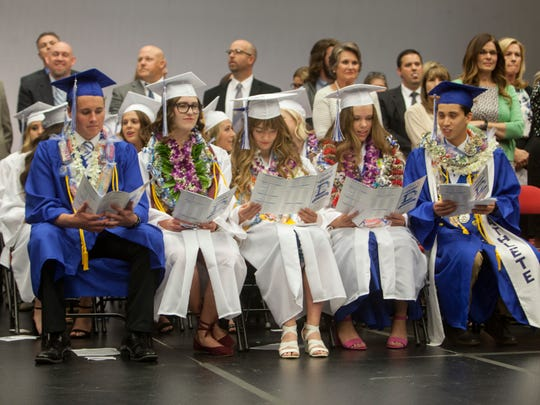 Dixie High School commemorates the graduation of their 2018 class at the Burns Arena Wednesday, May 23, 2018.