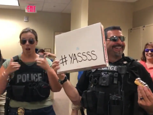 Stuart police perform in lip-sync challenge