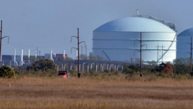 The Elba Island facility as seen from Causton Bluff. File photo.