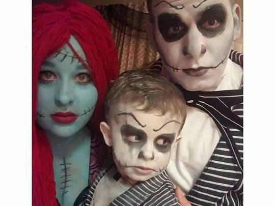 Family Halloween costume.