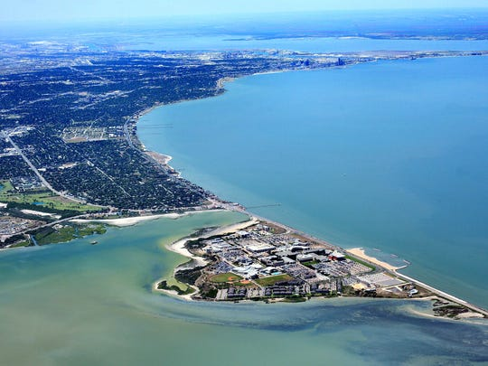 Texas A&M University-Corpus Christi is truly and Island University during high tide.