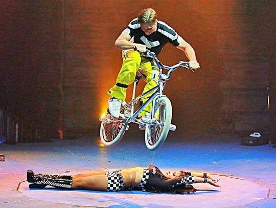 BMX stunts will be part of the Cirque Italia performances