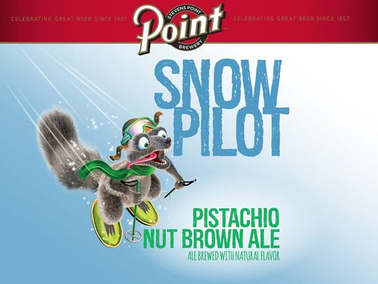 The Stevens Point Brewery has released its winter seasonal beer, Point Snow Pilot Pistachio Nut Brown Ale.
