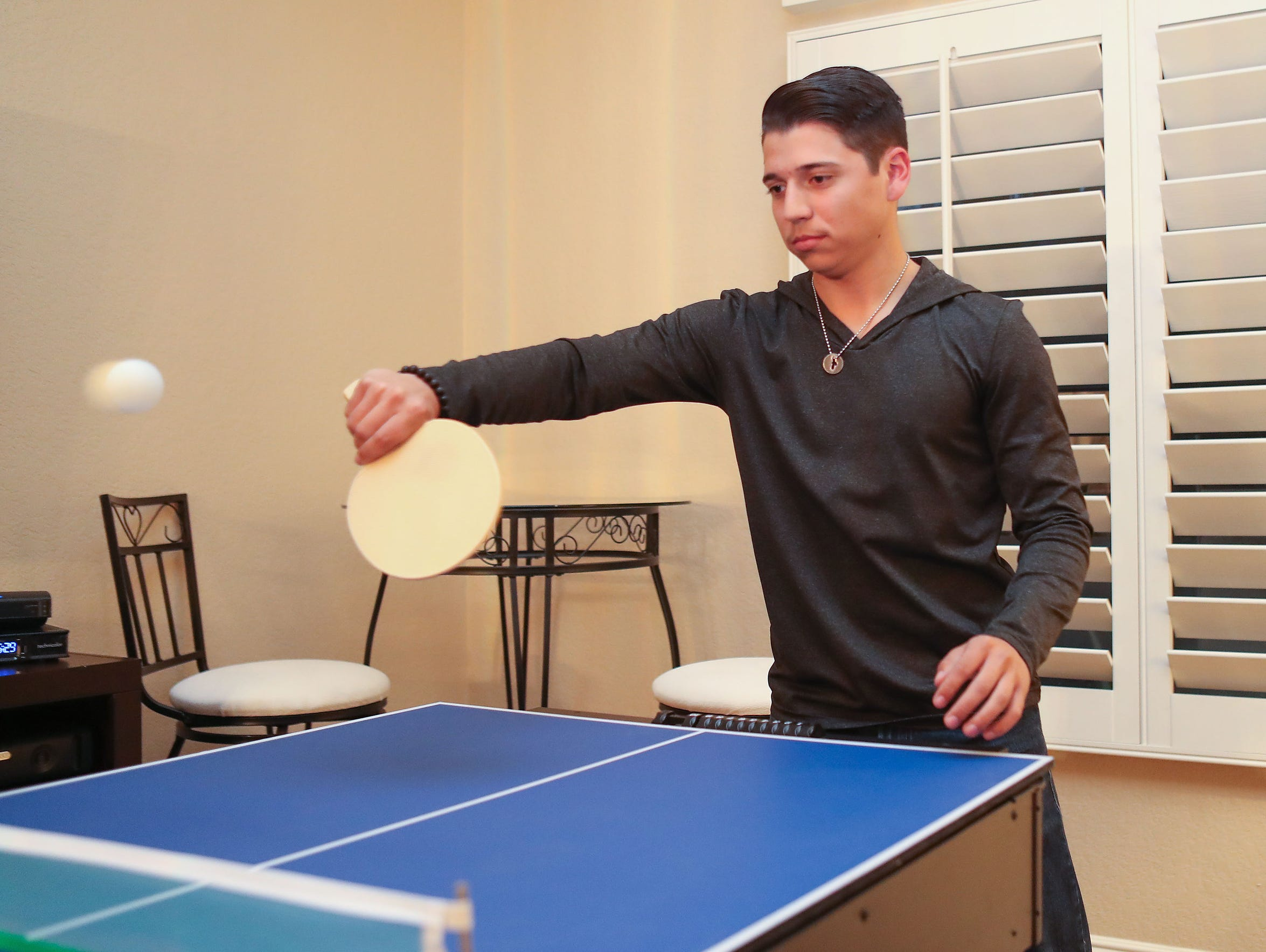 Kevin Salamone has used ping-pong to improve his hand-eye