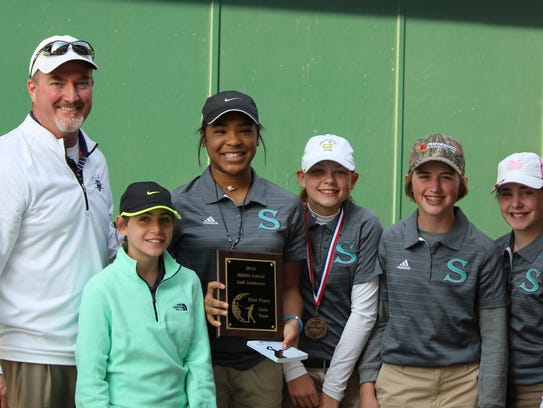 Siegel Middle's girls golf team won the Rutherford
