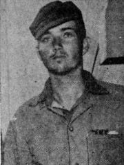 """Ernest """"Boots"""" Thomas of Monticello enlisted in the Marines at age 17. Three years later he led the group of men who hoisted the flag atop Mt. Suribachi during the Battle of Iwo Jima"""