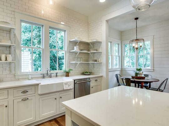 Although filled with modern amenities, this Garden Gate Homes kitchen is part of a historically inspired home located on downtown Franklin's Jennings Street.