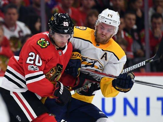NHL: Nashville Predators at Chicago Blackhawks