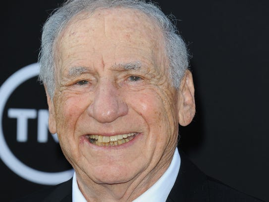 Mel Brooks arrives at the American Film Institute's