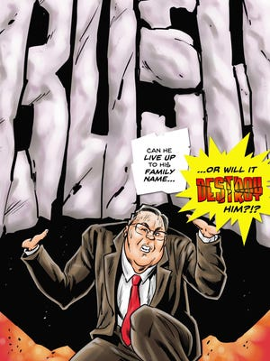 Michael Frizell of Springfield penned this 22-page comic-book biography of GOP presidential candidate Jeb Bush, which goes on sale in print and ebook in August. He's also written up Hillary Clinton and celebrities like Miley Cyrus.