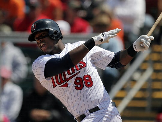 Miguel Sano of the Minnesota Twins hopes to recapture his swing after being optioned to the Fort Myers Miracle.