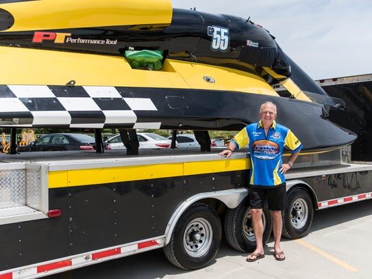 Scotty Pierce stands by his GP 55 hydroplane racing