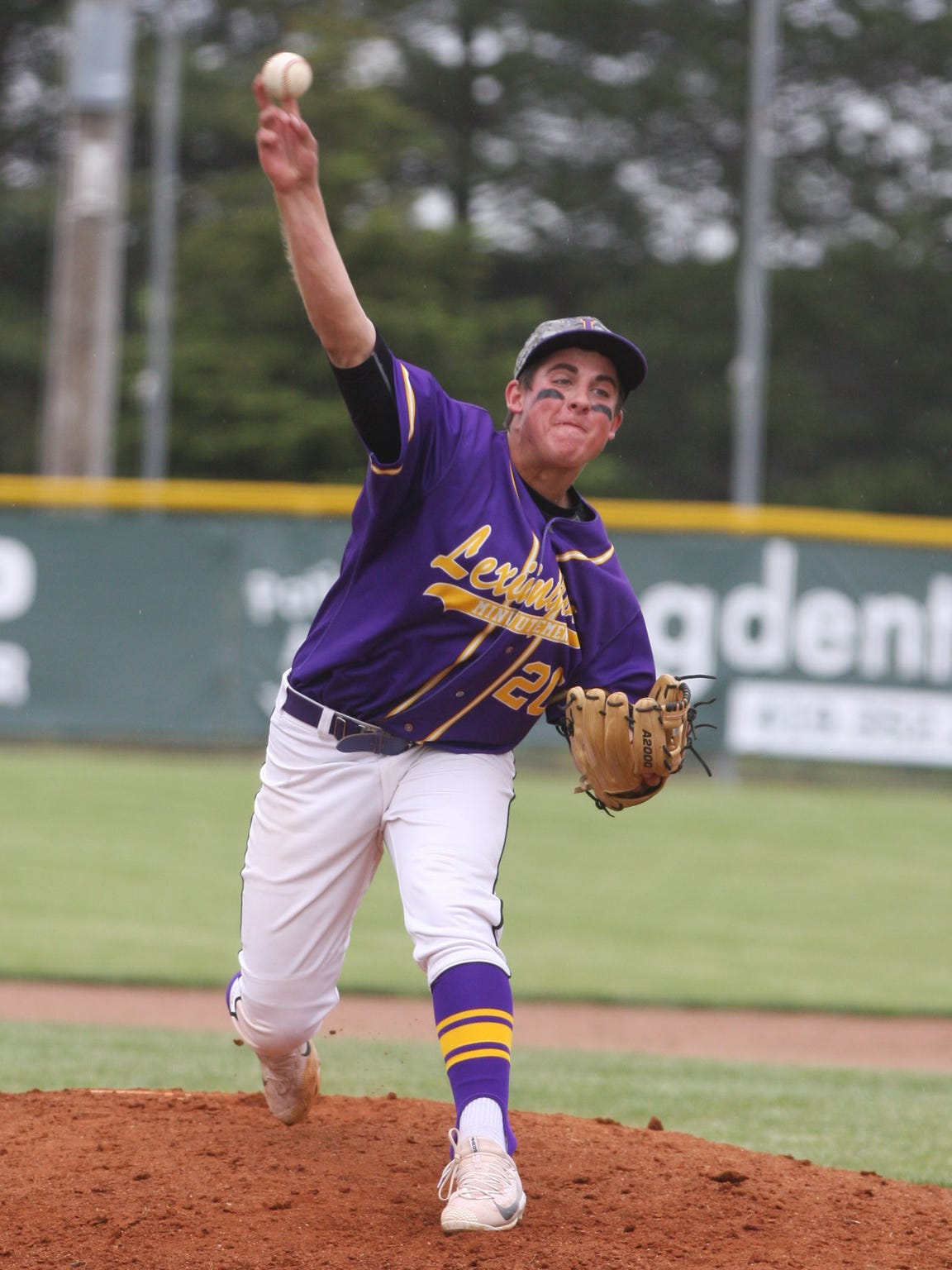 Jared Strickler pitches for Lexington in a Division