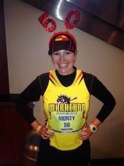 Diane Montgomery hit the mark Saturday in Hartford.