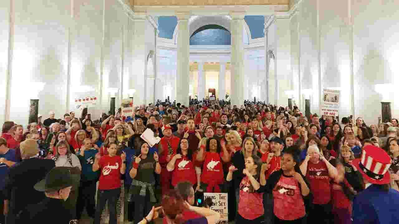 Image result for west virginia teachers strike