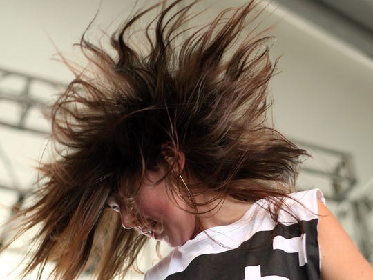 Alexis Krauss of Sleigh Bells. pictured in 2010.